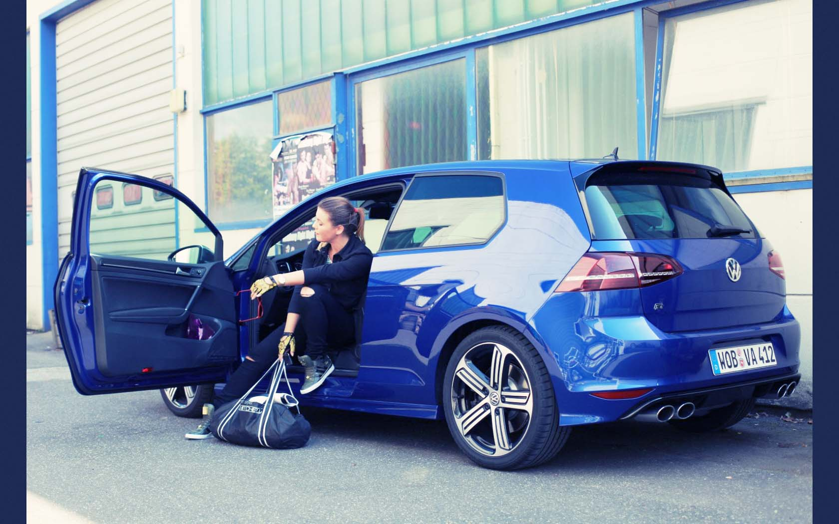 vw golf 7 r 2014 blue blau volkswagen 14 bemoreimpulsee. Black Bedroom Furniture Sets. Home Design Ideas